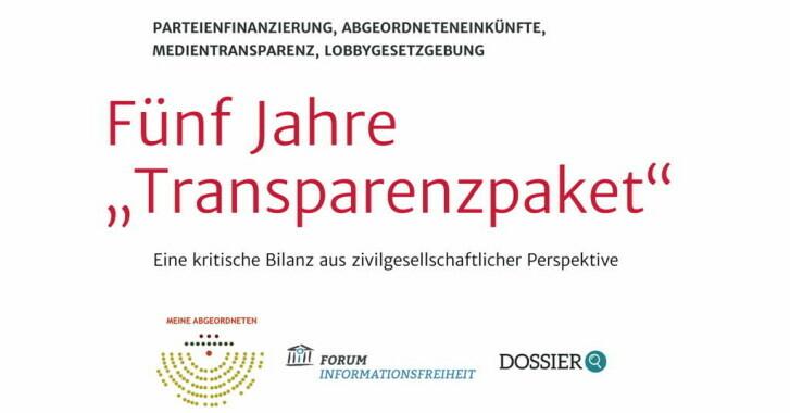 Fünf Jahre Transparenzpaket - Eine kritische Bilanz aus zivilgesellschaftlicher Perspektive