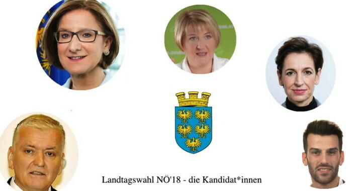 Meine Abgeordneten präsentiert die KandidatInnen für den Niederösterreichischen Landtag