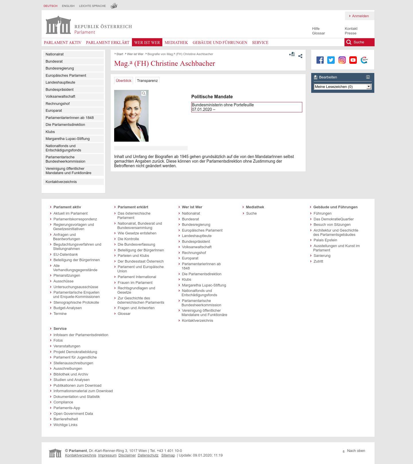 Christine Aschbacher Meine Abgeordneten